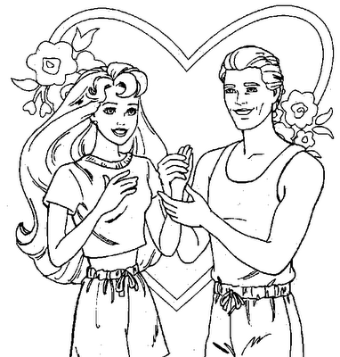 Drawn barbie barbie ken Pages Coloring and Ken and