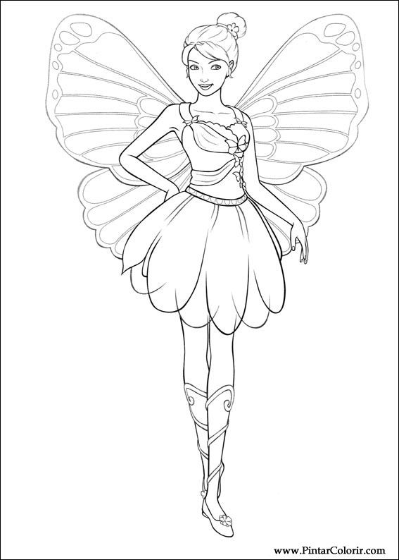 Drawn barbie barbie mariposa Print 005 005 Barbie Design