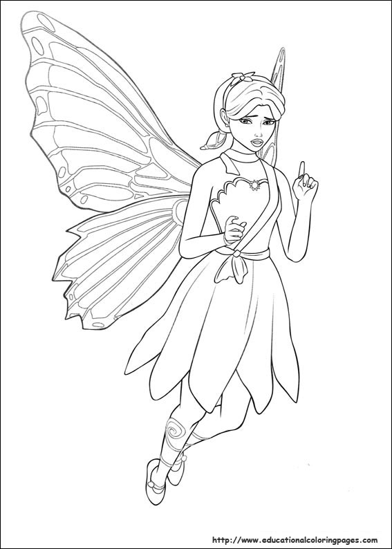 Drawn barbie barbie mariposa For Free Kids Pages Barbie