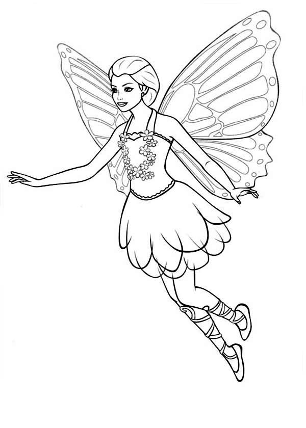 Drawn barbie barbie mariposa Mariposa Page Colouring Friends Colouring
