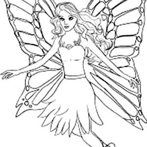 Drawn barbie barbie mariposa Pages Color How Pages Bulk