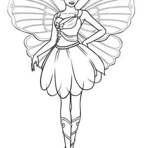 Drawn barbie barbie mariposa  Mariposa Coloring Barbie is