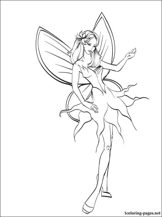 Drawn barbie barbie mariposa On com Coloring page kids
