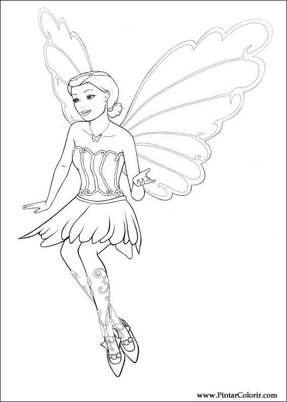 Drawn barbie barbie mariposa Print 012 Design Barbie 012