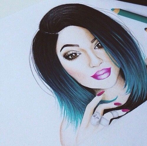 Drawn barbie beautiful face On drawing 11 images Jenner