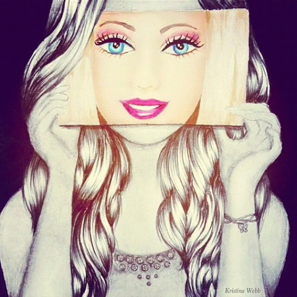 Drawn barbie beautiful face And drawings all webb photos)