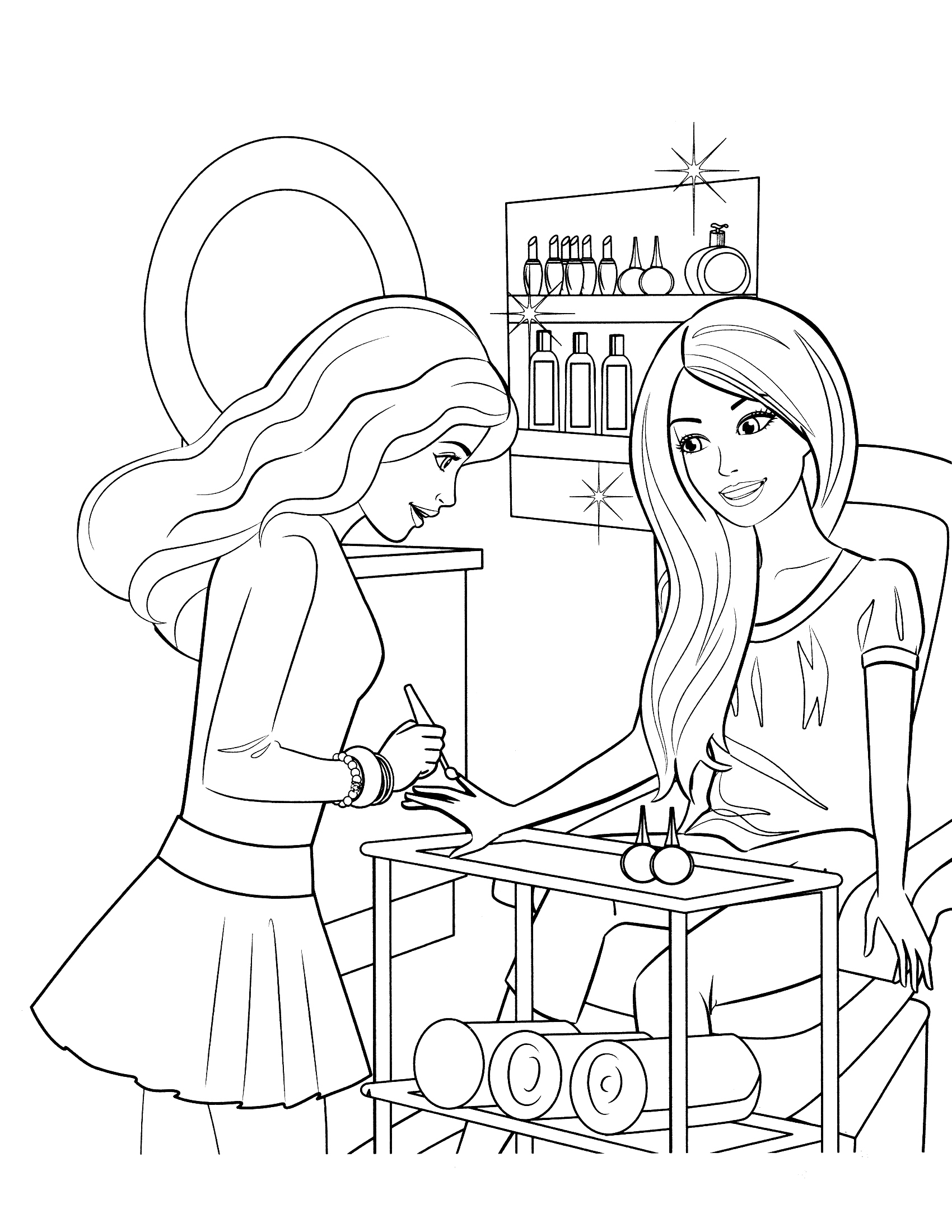 Drawn barbie color Barbie Style Summer summer Coloring