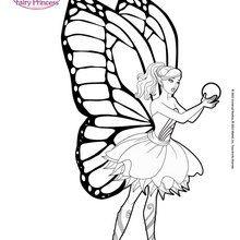Drawn barbie color BARBIE com Hellokids coloring MARIPOSA
