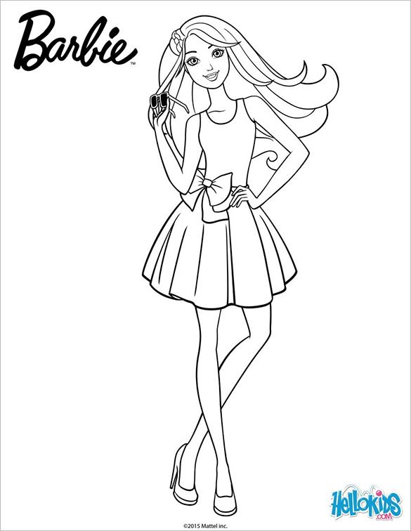 Drawn barbie coloring page PDF Free – Amazing 21+