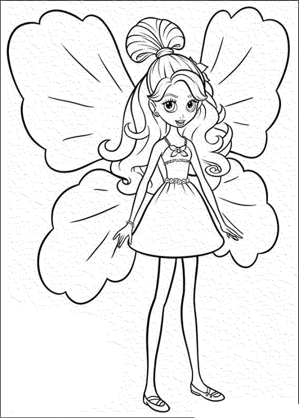 Drawn barbie cute Barbie Butterfly coloring Pages Color