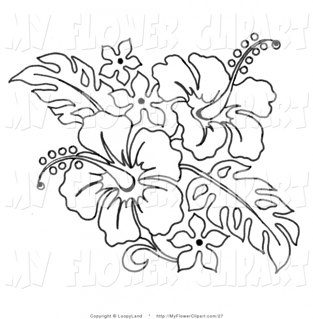 Drawn barbie flower Flower Library Art Hibiscus Drawing