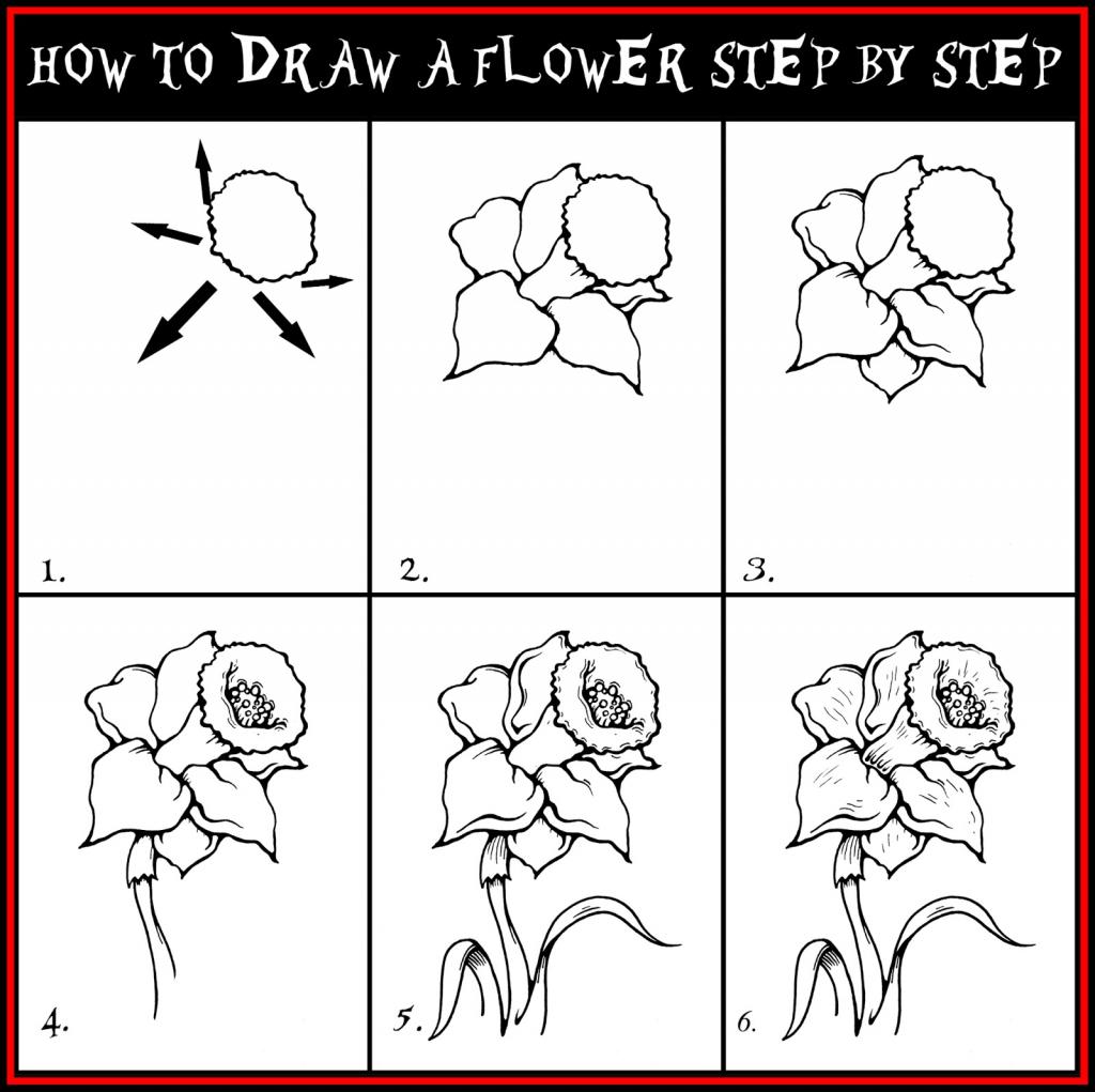 Drawn barbie flower By Step Art Step Drawing
