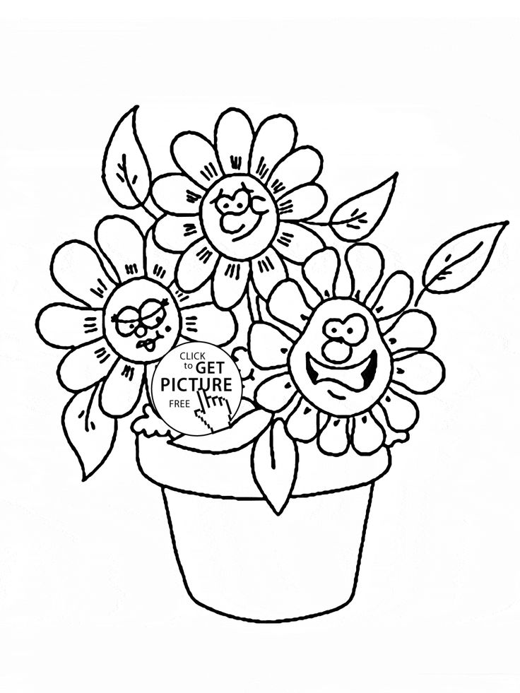 Drawn barbie flower Flowers cartoon pages ideas coloring