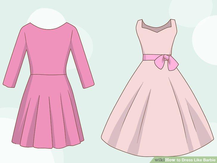Drawn barbie frock Like Dress How Barbie Step