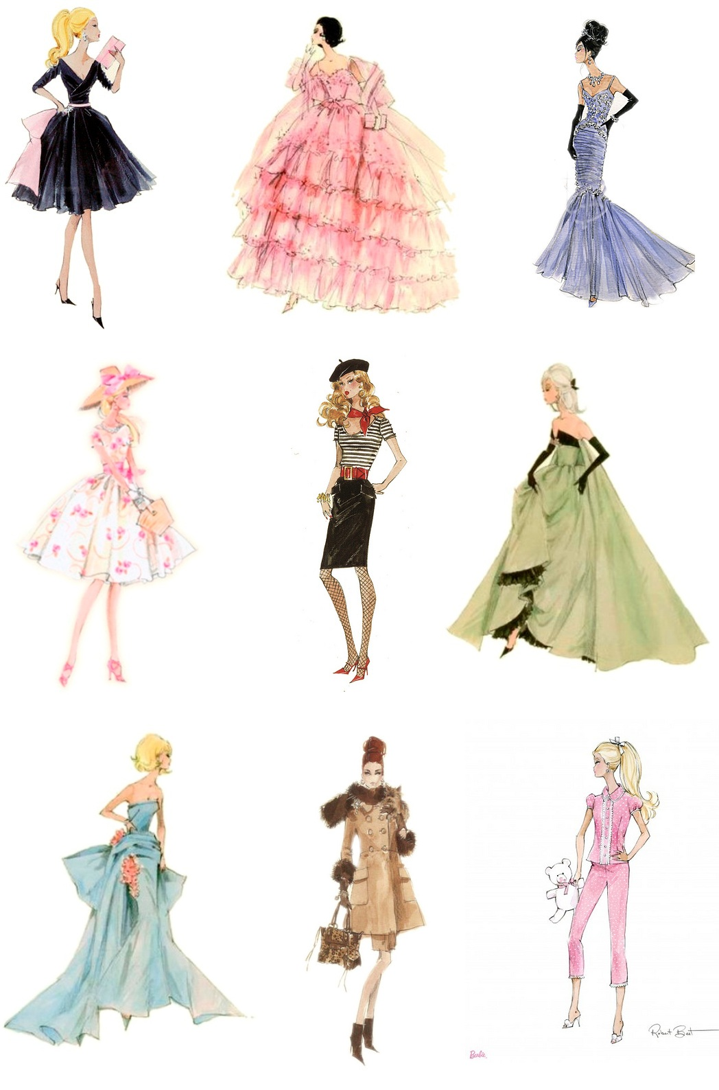 Drawn barbie frock Best Friend Barbie's Friend Barbie's