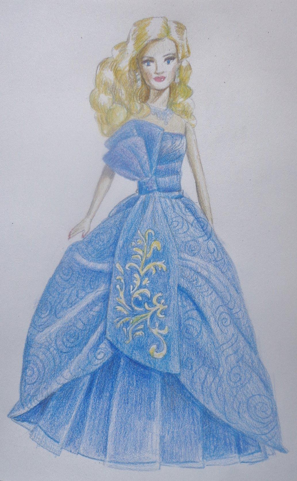 Drawn barbie frock YouTube draw draw How a