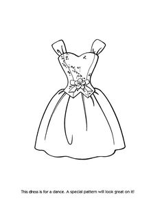 Drawn barbie gown Coloring Coloring Pages Fashion More