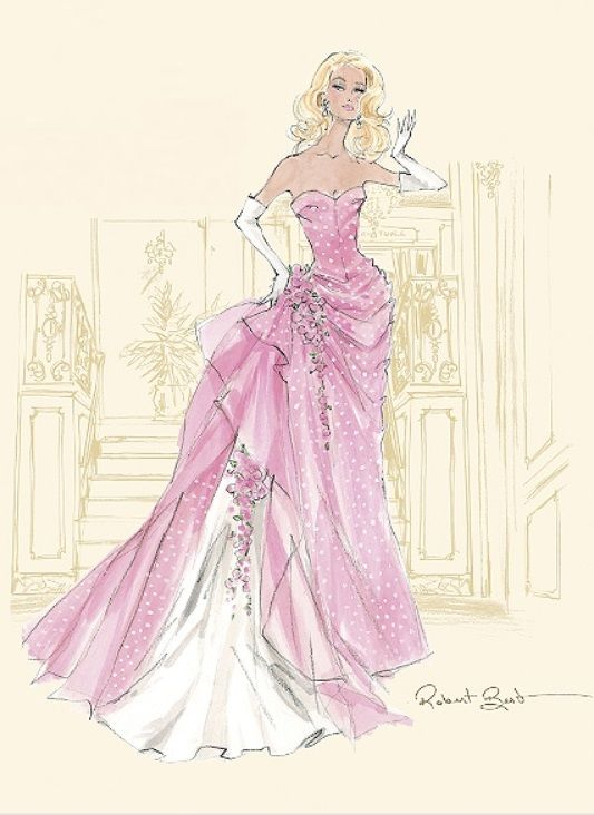 Drawn barbie gown  by Barbie on 2015