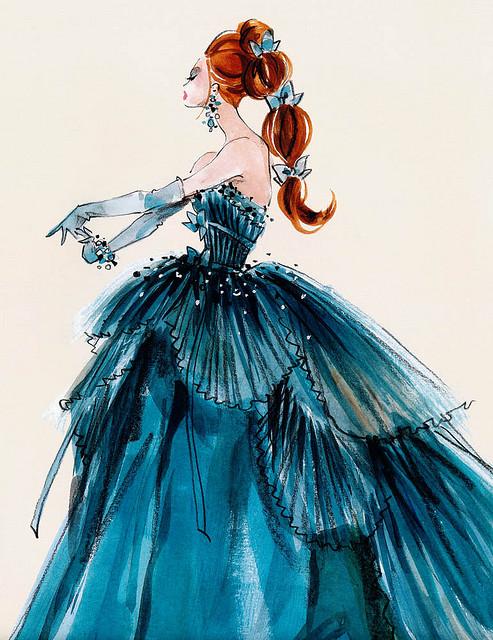 Drawn barbie gown Barbie Best Dress I and