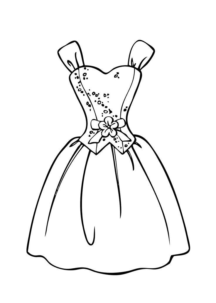 Drawn barbie gown For images on Barbie printable