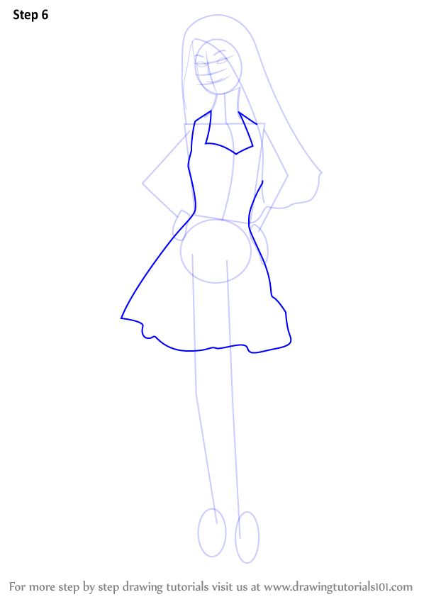 Drawn barbie gown To Step Drawing Draw a
