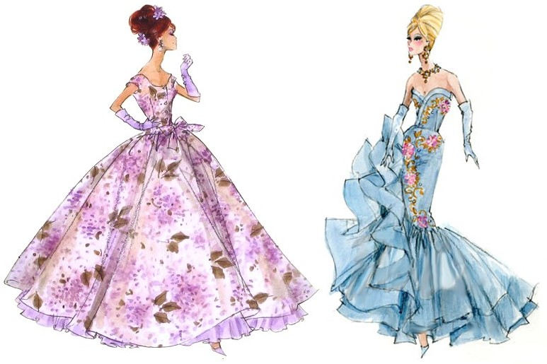 Drawn barbie gown Barbie: Looking Violette the Through
