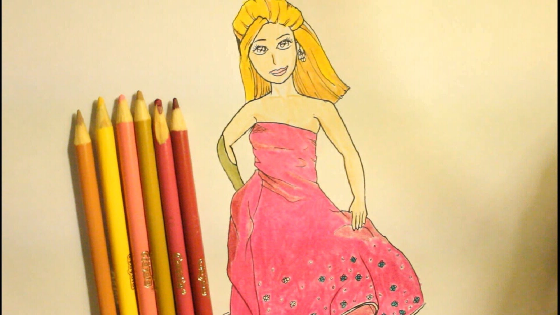 Drawn barbie gown wallpaper Step  By How The