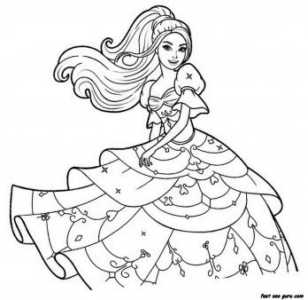 Drawn barbie gown wallpaper Dress coloring 25+ For Barbie