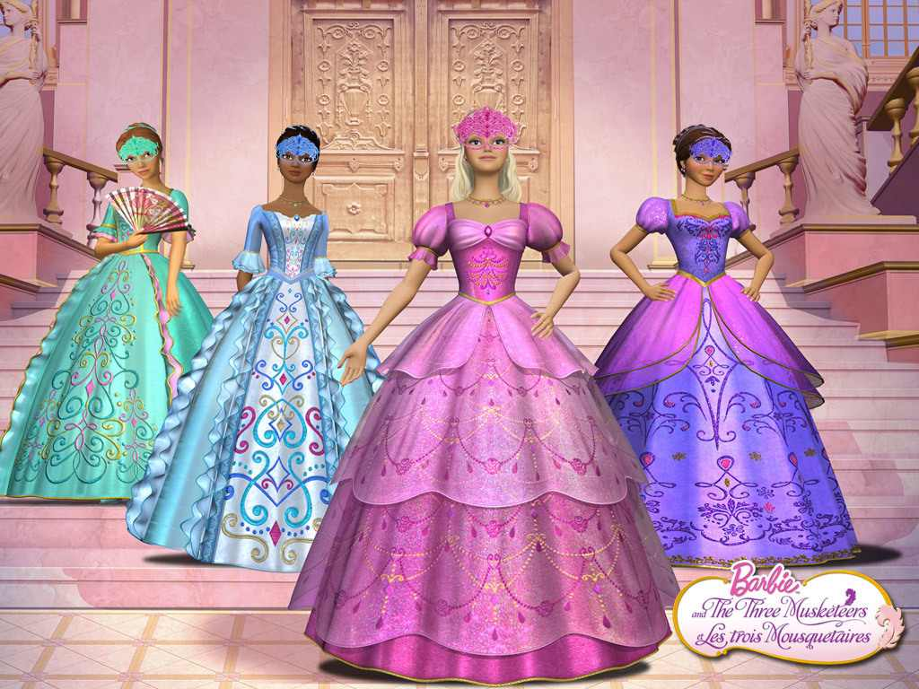 Drawn barbie gown wallpaper Musketeers dresses Outfits musketeers