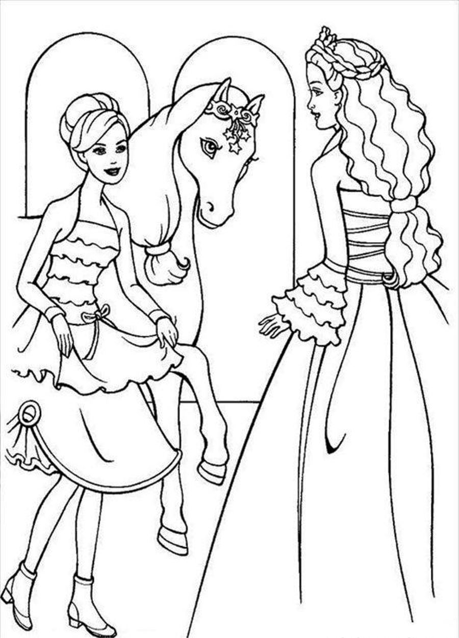 Drawn barbie horse Coloring Page Ages Horse Horse