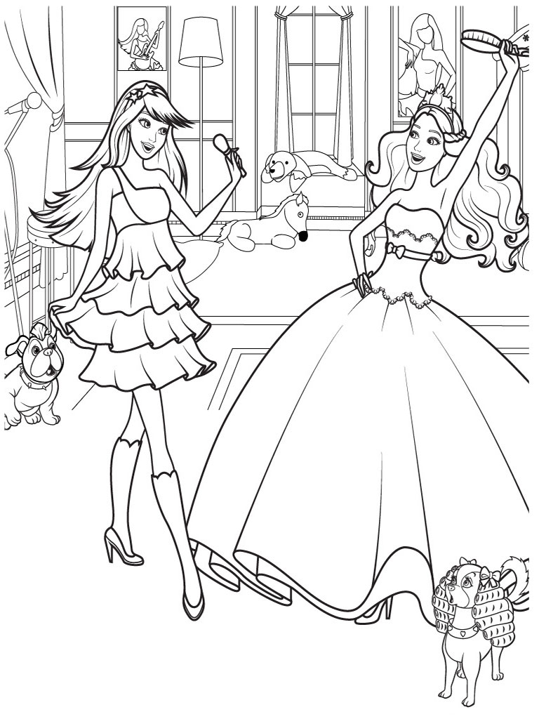 Drawn barbie horse Pages Book Colotring for Coloring