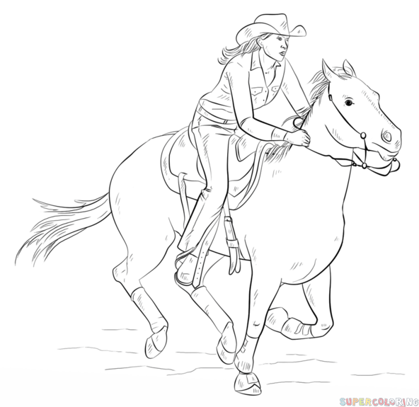 Drawn barbie horse By on a Drawing to