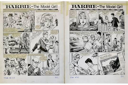 Drawn barbie original Comic Story Ink Hand in