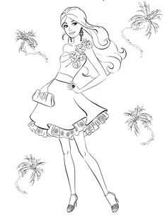 Drawn barbie painting New girls fashion pages Pinterest