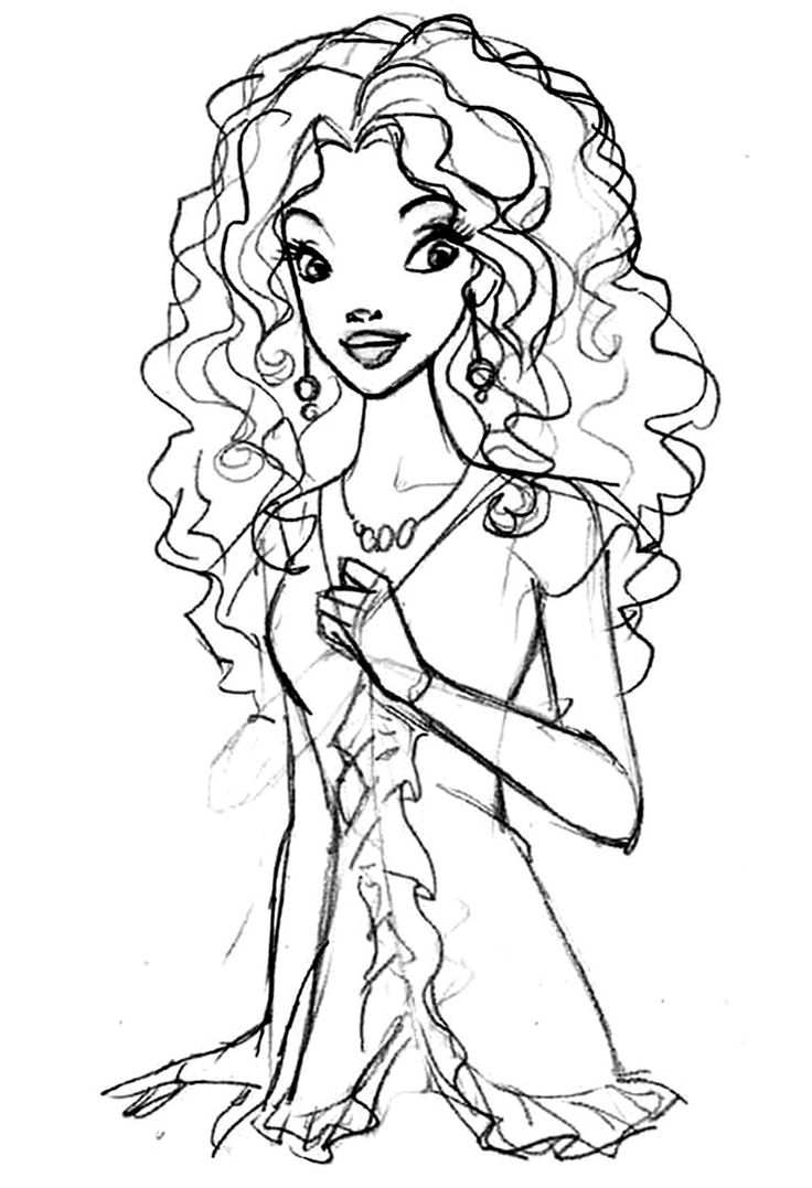 Barbie clipart colour page Pinterest Pages more Colouring this
