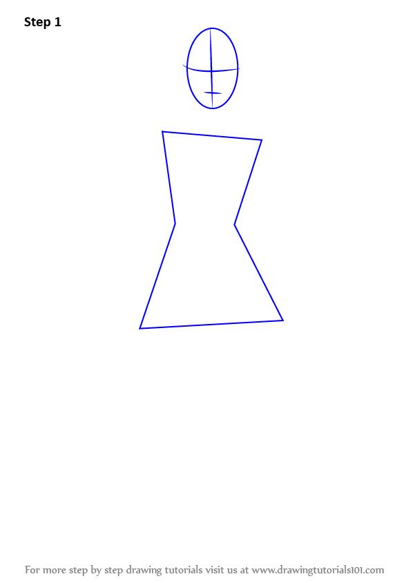 Drawn barbie step by step Draw to (Barbie) by