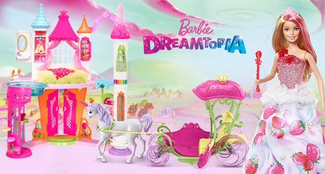 Drawn trolley cartoon horse Dreamtopia playset castle world with