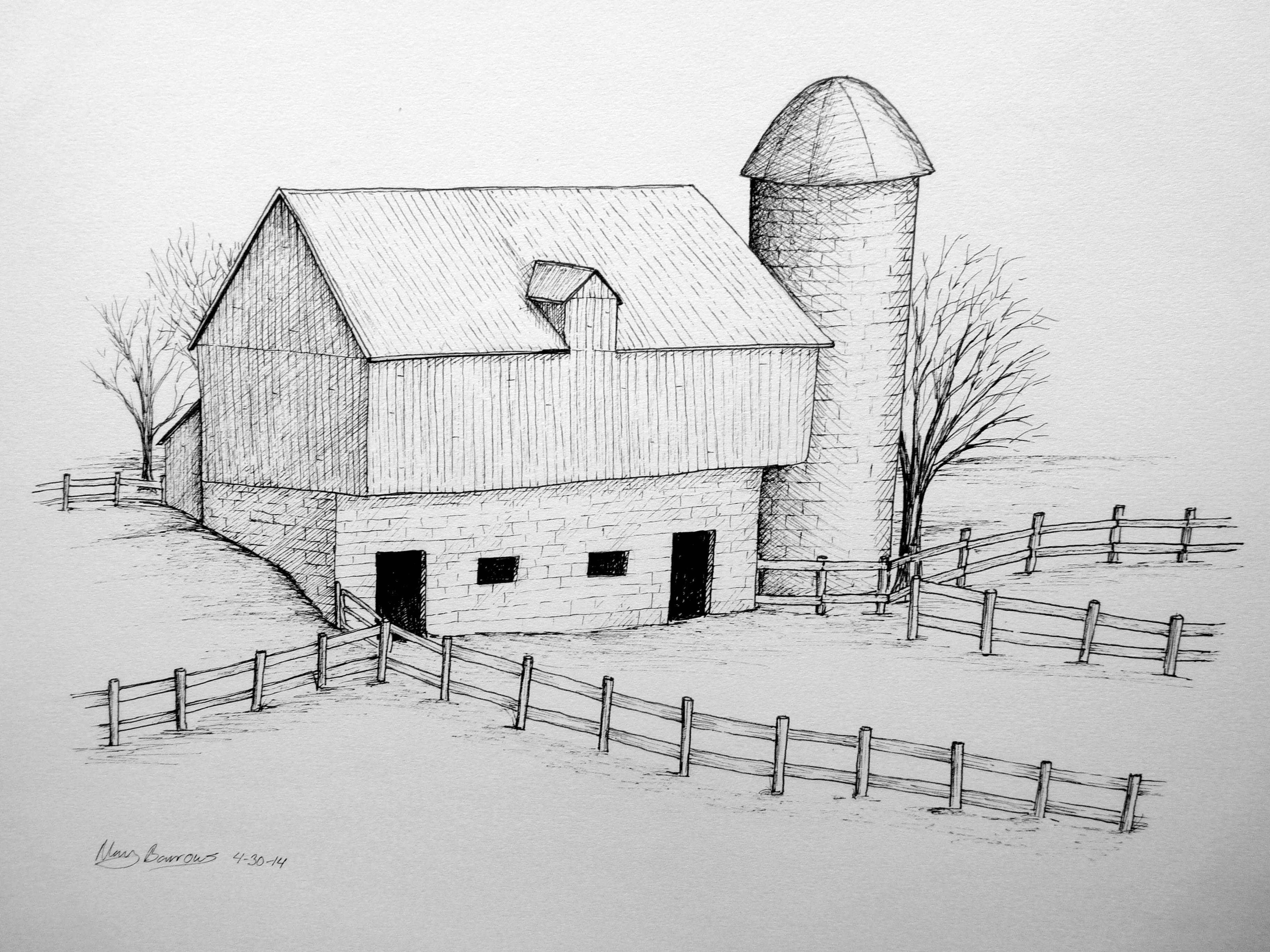 Drawn barn #15