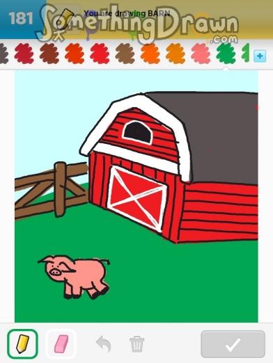 Drawn barn #14