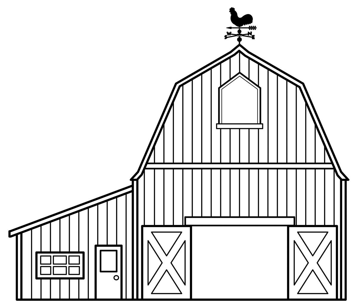 Drawn farm Step a house how Homes