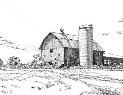 Drawn barn #10