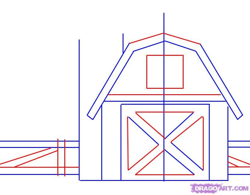 Drawn farm farm barn #10