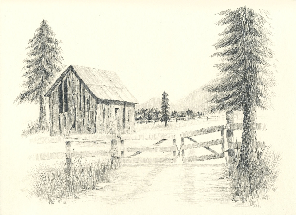 Drawn farm For A Pencil Old Old