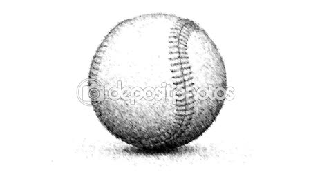 Drawn baseball softball On Drawn Stock background Drawn