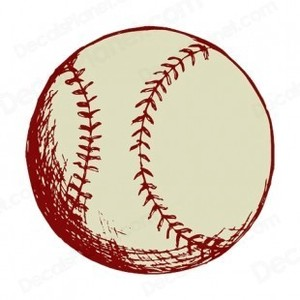 Drawn baseball Ball and decals ball drawing