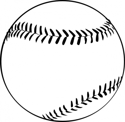 Drawn baseball baseball ball #14