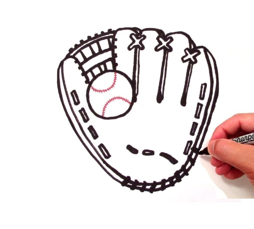 Drawn baseball baseball logo To a How Glove Glove