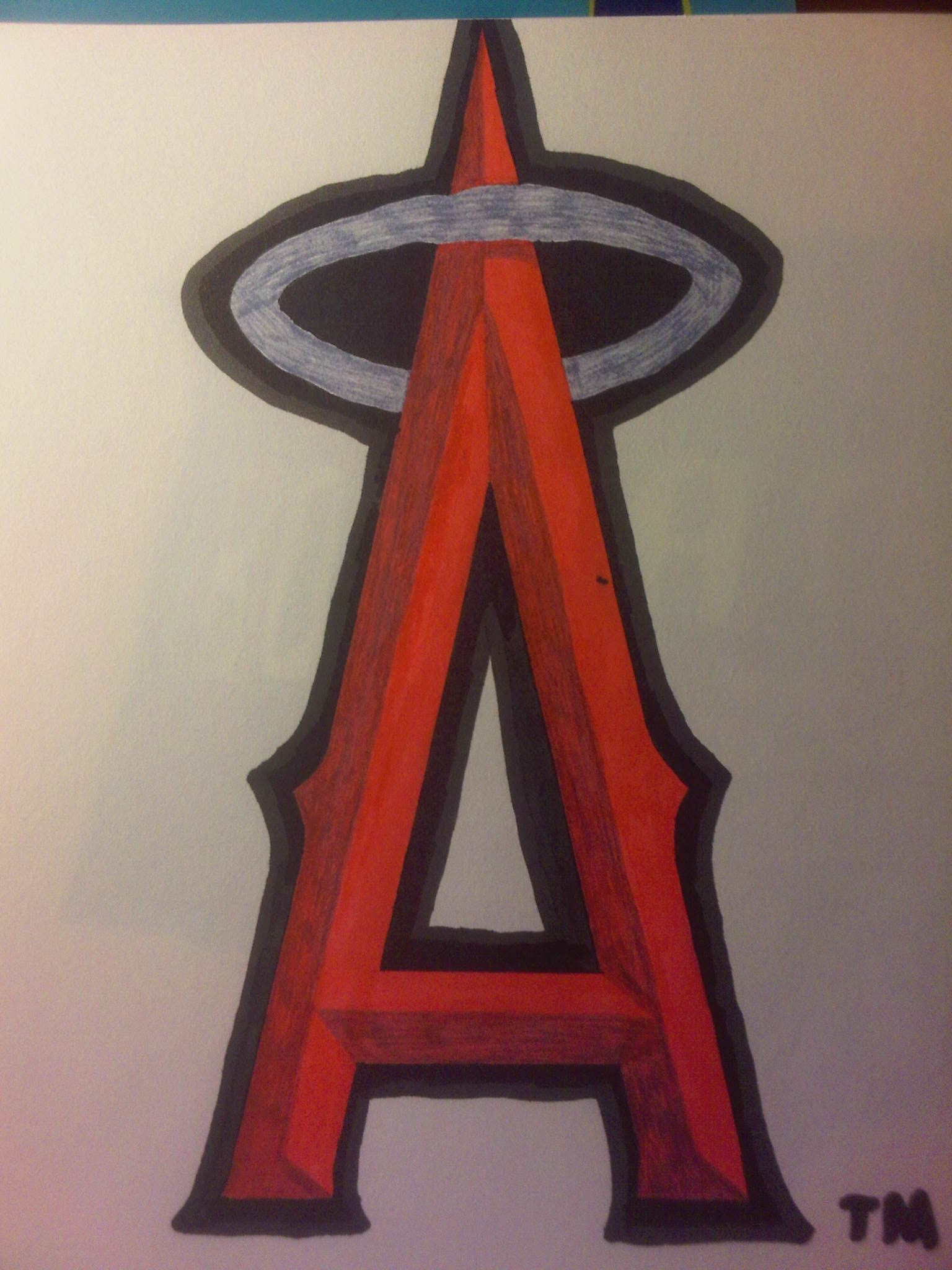 Drawn baseball baseball logo How YouTube Angeles Los to