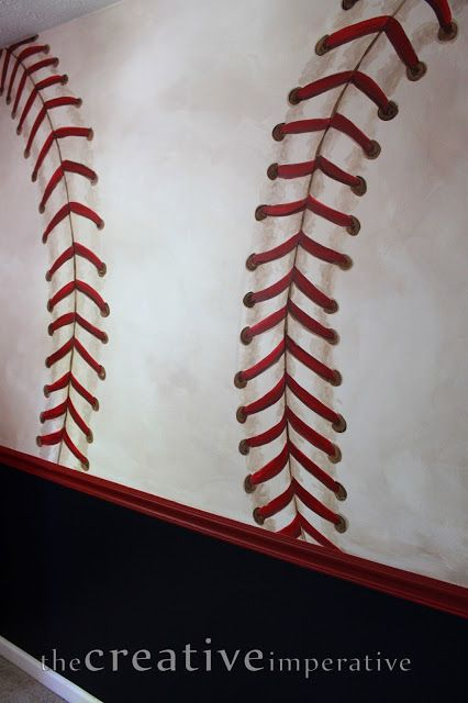 Drawn baseball baseball stitch Make on stitching painted baseball