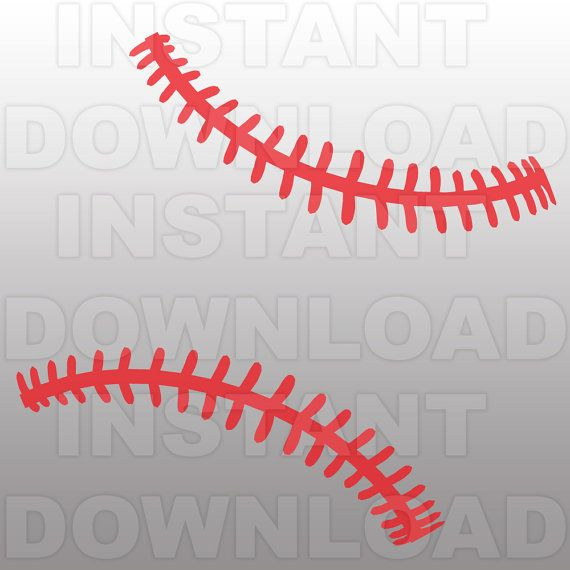 Drawn baseball baseball stitch Cutting on Commercial about for